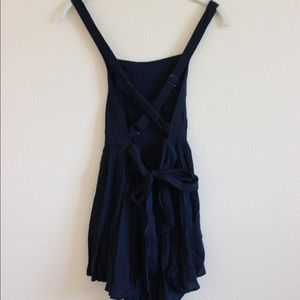 Urban Outfitters UO Navy Blue Romper